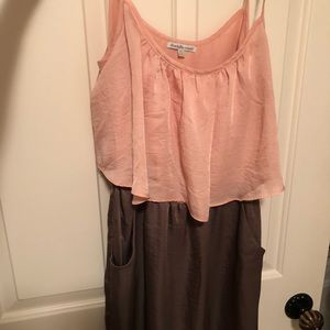 Charlotte Russe Brown and Pink dress